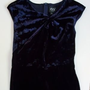 Womens ECI Velvet Navy Dress Size 10